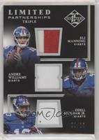 Andre Williams, Eli Manning, Odell Beckham Jr. #/25