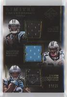 Cam Newton, DeAngelo Williams, Kelvin Benjamin /75