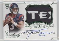 Rookie Patch Century Materials Signatures - Tom Savage #/3