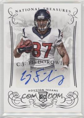 2014 Panini National Treasures - [Base] #240 - Rookie Signatures - C.J. Fiedorowicz /99