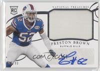 Rookie Materials Signatures - Preston Brown /99