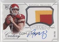 Rookie Patch Century Materials Signatures - Aaron Murray /99