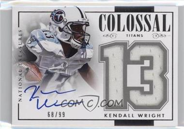 2014 Panini National Treasures - Colossal Signatures - Jersey Numbers #CJS-KW - Kendall Wright /99