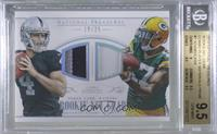 Davante Adams, Derek Carr [BGS 9.5 GEM MINT] #/25