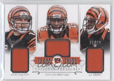 2014 Panini National Treasures - Team Trios #TT-CIN - A.J. Green, Andy Dalton, Giovani Bernard /99