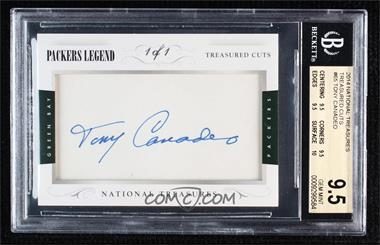 2014 Panini National Treasures - Treasured Cuts #65 - Tony Canadeo /1 [BGS 9.5 GEM MINT]