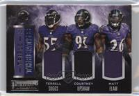 Courtney Upshaw, Matt Elam, Terrell Suggs /25