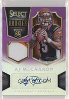 AJ McCarron #/10