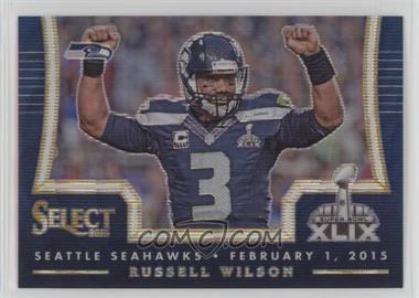 2014 Panini Select - Super Bowl XLIX Redmption Prize - Blue Mojo Prizm #43 - Russell Wilson