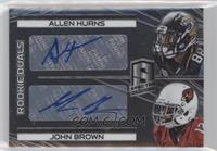 Rookie Autographs Dual - Allen Hurns, John Brown #84/149