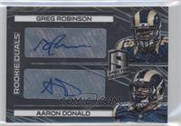 Rookie Autographs Dual - Aaron Donald, Greg Robinson /149