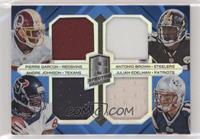 Pierre Garcon, Antonio Brown, Julian Edelman, Andre Johnson #/49