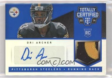 2014 Panini Totally Certified - [Base] - Rookie Signatures Mirror Blue [Autographed] #193 - Dri Archer /10
