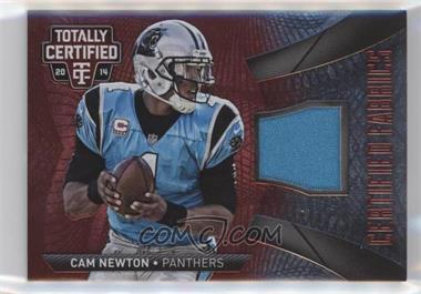 2014 Panini Totally Certified - Certified Fabrics - Red #CF-CN - Cam Newton /100