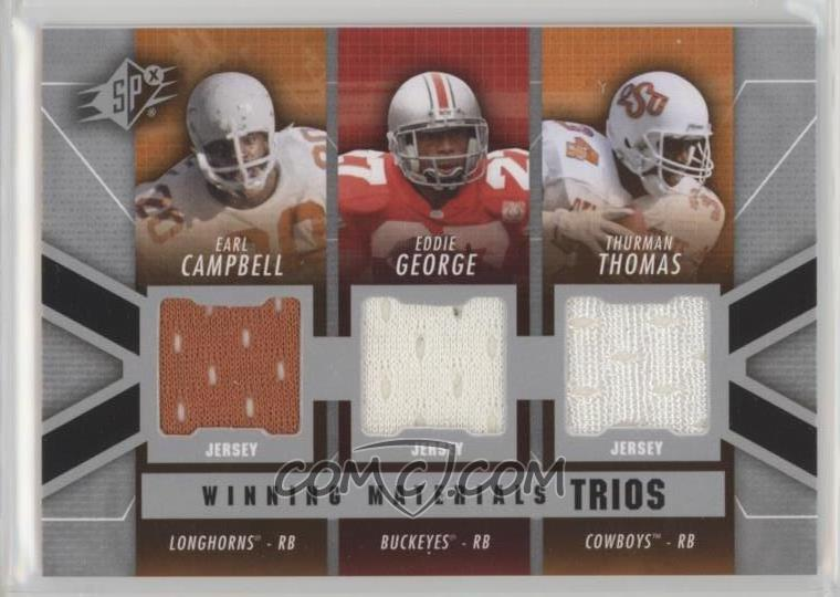 save off cd2bd 5cecf 2014 SPx - Winning Materials Trios #WT-CGT - Thurman Thomas ...