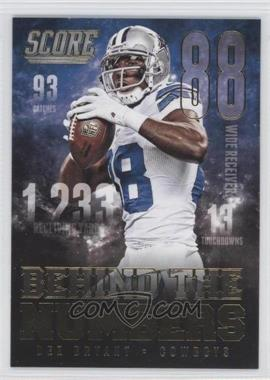 2014 Score - Behind The Numbers - Gold #BN14 - Dez Bryant