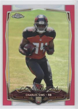 2014 Topps Chrome - [Base] - BCA Pink Refractor #191 - Charles Sims /399