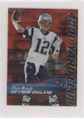 2014 Topps Chrome Mini - 4,000 Yard Club - Red Refractor #1 - Tom Brady /210