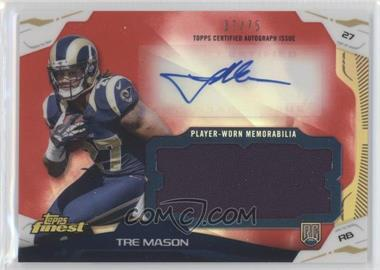 2014 Topps Finest - Autograph Jumbo Relics - Red Refractor #AJR-TM - Tre Mason /75