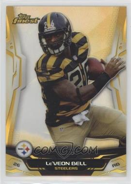 2014 Topps Finest - [Base] - Gold Refractor #73 - Le'Veon Bell /75