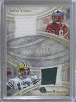 Steve Young, Aaron Rodgers /10