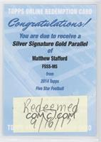 Matthew Stafford [BeingRedeemed] #/10