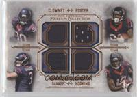 Jadeveon Clowney, Arian Foster, Tom Savage, DeAndre Hopkins #/50