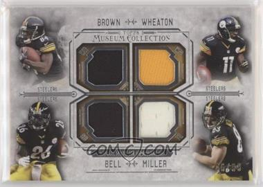 2014 Topps Museum Collection - Four-Player Quad Relics #FPQR-BWBM - Antonio Brown, Markus Wheaton, Le'Veon Bell, Heath Miller /99