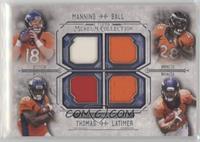 Peyton Manning, Montee Ball, Demaryius Thomas, Cody Latimer #/99