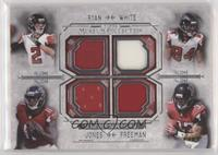 Matt Ryan, Roddy White, Julio Jones, Devonta Freeman #/99