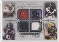 Patrick Willis, Von Miller, Jadeveon Clowney, Clay Matthews #/99
