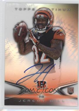 2014 Topps Platinum - Autograph Rookie Refractor #29 - Jeremy Hill