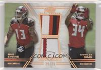 Mike Evans, Charles Sims #/25