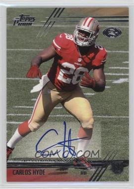 2014 Topps Prime - Rookie Variations Autographs #131 - Carlos Hyde