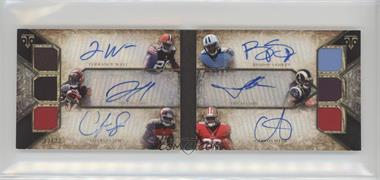 2014 Topps Triple Threads - Autographed Relic Double Combos Booklets #TTARDC-8 - Bishop Sankey, Terrance West, Tre Mason, Jeremy Hill, Carlos Hyde, Charles Sims /27