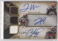 Terrance West, Jeremy Hill, Charles Sims #/36