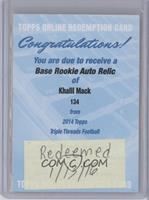Khalil Mack [Being Redeemed] #/99