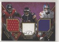 Julio Jones, Victor Cruz, Alshon Jeffery #/27