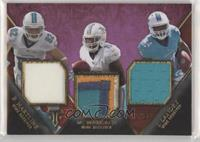 Brian Hartline, Mike Wallace, Jarvis Landry #/27