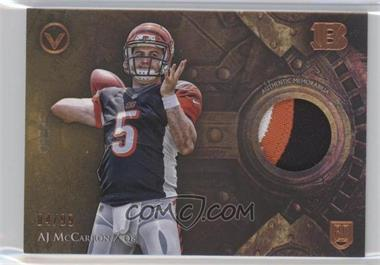 2014 Topps Valor - Patches - Speed #VP-AMC - AJ McCarron /99