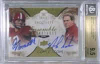Nick Saban, Joe Namath [BGS 9.5 GEM MINT] #/10