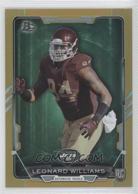 2015 Bowman - Rookies - Gold Rainbow Foil #10 - Leonard Williams /399