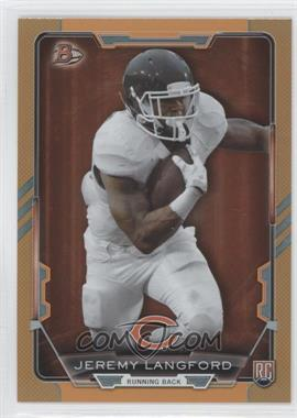 2015 Bowman - Rookies - Orange Rainbow Foil #35 - Jeremy Langford /299