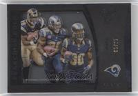Marshall Faulk, Steven Jackson, Todd Gurley II [Noted] #/25