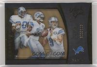 Barry Sanders, Calvin Johnson, Matthew Stafford #/199
