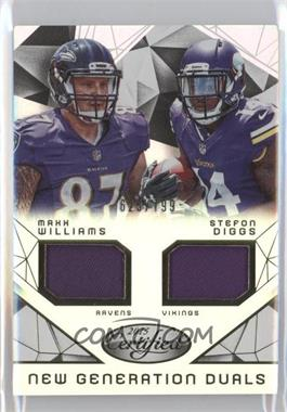 2015 Panini Certified - New Generation Dual Jerseys #NG-MIN - Maxx Williams, Stefon Diggs /799