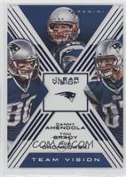 Rob Gronkowski, Tom Brady, Danny Amendola /99