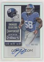 Rookie Ticket - Owamagbe Odighizuwa (Base) #/99