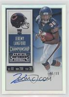 Rookie Ticket RPS - Jeremy Langford (Base) /99