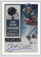 Rookie Ticket RPS - Jeremy Langford (Base) #/99